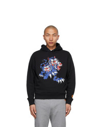 Kenzo Black Kansai Yamamoto Edition Three Tigers Hoodie
