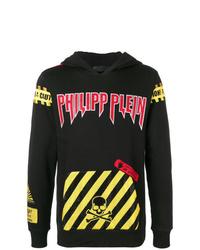 Philipp Plein Caution Warning Hoodie
