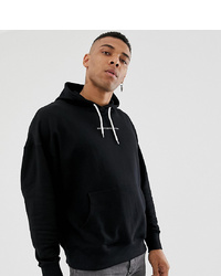Good For Nothing Oversized Hoodie In Black With Logo