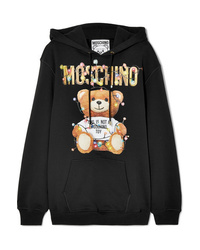 Moschino Printed Cotton Jersey Hoodie