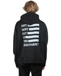 Raf Simons Printed Hooded Cotton Jersey Sweatshirt