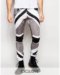 Black Print Jeans