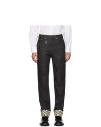 Neil Barrett Black Printed Cuff Jeans