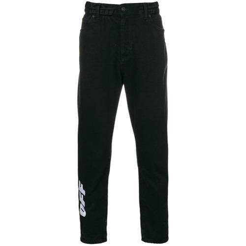 671fa905 Off-White Low Crotch Jeans, $535   farfetch.com   Lookastic.com