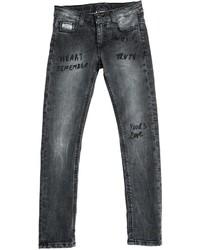 MSGM Hand Written Prints Stretch Denim Jeans
