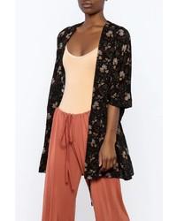 Floral print rayon kimono medium 3665506