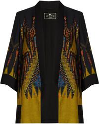 Etro Geometric Print Crepe Kimono Jacket