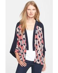 Trina Turk Evangelina Print Silk Kimono Jacket