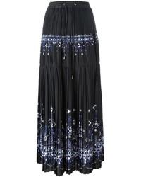 Sacai Tribal Lace Printed Maxi Skirt