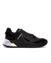Balmain Black And Silver B Trail Sneakers