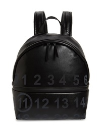Maison Margiela Medium Number Print Faux Leather Backpack