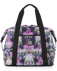 Nicole Miller City Life Printed Large Duffle Bag Canopyblack