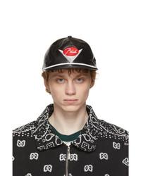 Rhude Black Leather Classic Cap