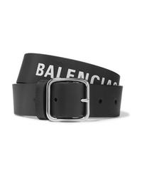 Balenciaga Everyday Printed Textured Leather Belt