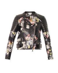 Erdem Jade Eames Garden Print Leather Jacket
