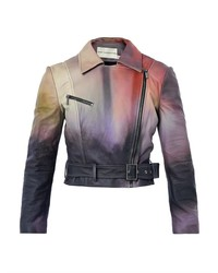 Mary Katrantzou Versicolour Leather Biker Jacket