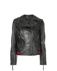 Marc Cain Rear Print Biker Jacket