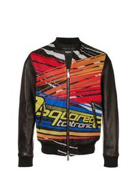 DSQUARED2 Printed Biker Jacket
