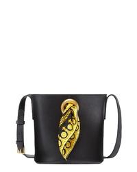 Versace Baroque Sash Leather Bucket Bag