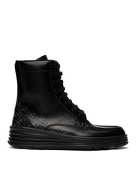 Fendi Black Forever Lace Up Boots