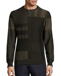 Graphic cotton leather sweatshirt medium 1032999