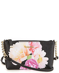 Calvin Klein Floral Saffiano Cross Body Bag