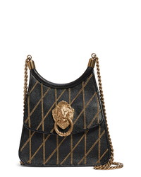 Moschino Roman Quilted Leather Saddle Bag