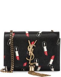 ysl belle de jour clutch beige - Saint Laurent Monogram Small Lipstick Print Crossbody Bag Black ...