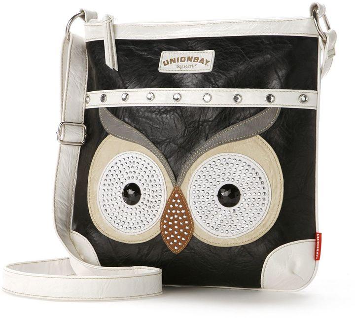 Unionbay Studded Owl Crossbody Bag