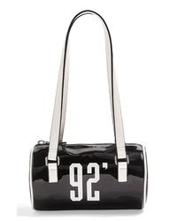 Topshop Patent Bowler Bag