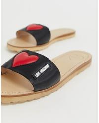 Love Moschino Signature Heart Sandals