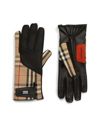 Burberry Check Mixed Media Gloves