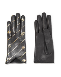 Gucci Printed Leather Gloves