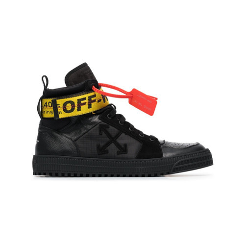 Off White Black Industrial Hi Top Leather Trainers 1 265