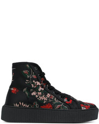 MM6 MAISON MARGIELA Floral Print Hi Top Sneakers