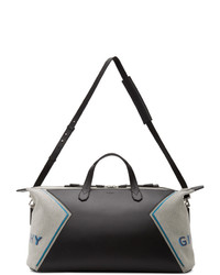 Givenchy Black And Blue Canvas Duffle Bag