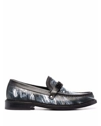 Moschino Abstract Print Logo Loafers