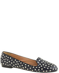 J.Crew Sophie Printed Leather Loafers