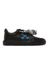 Off-White Black Leather Vulcanized Sneakers