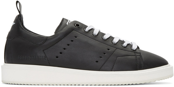 Golden Goose Black Starter Sneakers AY4gdXk