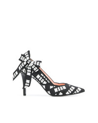 MSGM Bow Detail Printed Pumps