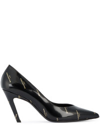 Balenciaga Logo Print Pointed Toe Pumps