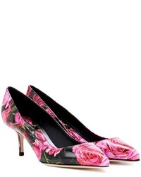 Dolce & Gabbana Printed Leather Pumps