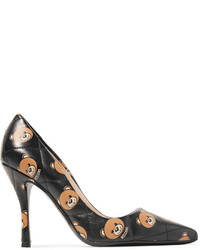Moschino Quilted Printed Leather Pumps