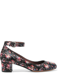 Tabitha Simmons Martha Floral Print Leather Pumps Black