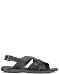 Emporio Armani Logo Print Sandals