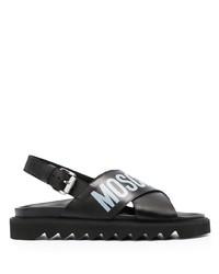Moschino Logo Print Strap Sandals