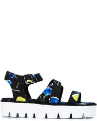 MSGM Printed Platform Sandals