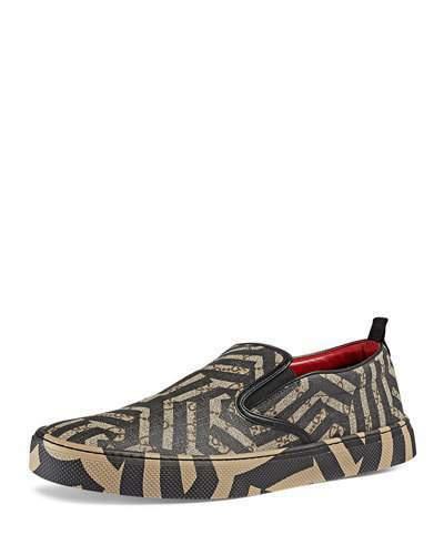 16b73c71ea7 ... Gucci Dublin Gg Caleido Canvas Slip On Sneaker Brown ...