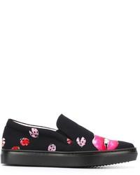 Giamba Ladybug Print Slip On Sneakers